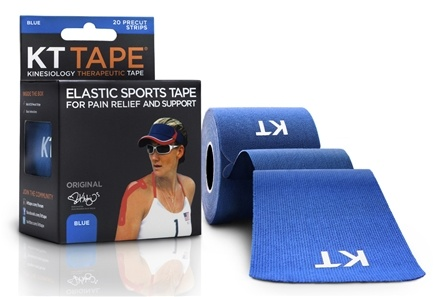 KT Tape - Kinesiology Therapeutic Elastic Athletic Tape Pre-Cut Strips Blue - 20 Strip(s)
