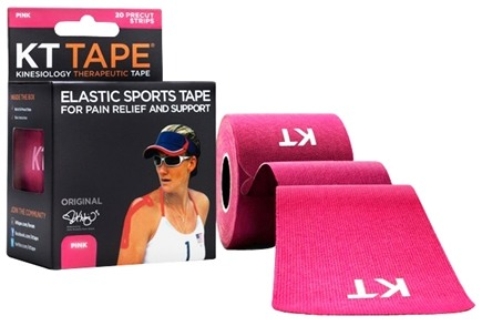DROPPED: KT Tape - Kinesiology Therapeutic Elastic Athletic Tape Pre-Cut Strips Pink - 20 Strip(s)