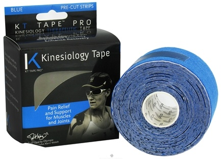 DROPPED: KT Tape - Pro Kinesiology Therapeutic Elastic Athletic Tape Pre-Cut Strips Blue - 20 Strip(s) CLEARANCE PRICED