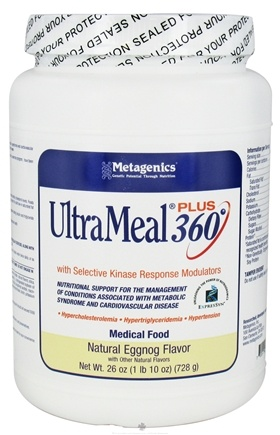 DROPPED: Metagenics - UltraMeal Plus 360 Medical Food Natural Eggnog Flavor - 26 oz.