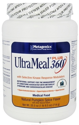DROPPED: Metagenics - UltraMeal Plus 360 Medical Food Natural Pumpkin Spice Flavor - 25.5 oz.