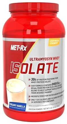 DROPPED: MET-Rx - Ultramyosyn Whey Isolate Creamy Vanilla - 2 lbs. CLEARANCE PRICED