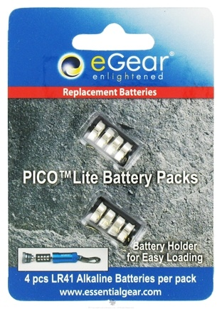 DROPPED: Essential Gear - eGear Pico Flashlight Replacement Batteries - CLEARANCE PRICED