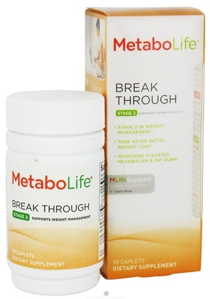 DROPPED: MetaboLife - Break Through Stage 2 Weight Management Support - 90 Caplets CLEARANCE PRICED