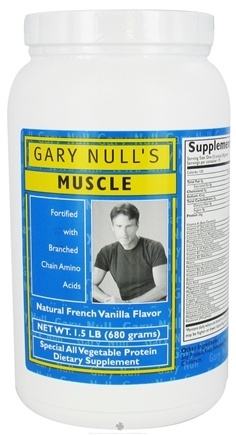 DROPPED: Gary Null's - Muscle All Vegetable Protein Powder French Vanilla Flavor - 1.5 lbs.