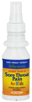 DROPPED: Natural Dentist - Sore Throat Pain Therapy Spray for Kids Not-Yucky Orange - 3.75 oz. CLEARANCE PRICED