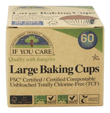 If You Care - Large Baking Cups Unbleached Totally Chlorine-Free (TCF) - 60 Cup(s)