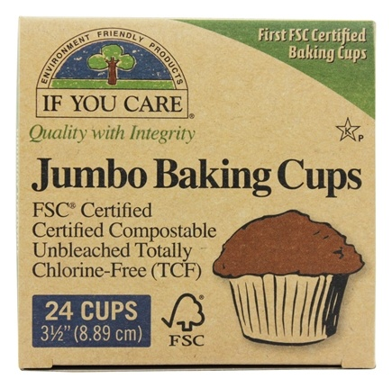 Zoom View - Jumbo Baking Cups Unbleached Totally Chlorine-Free (TCF)