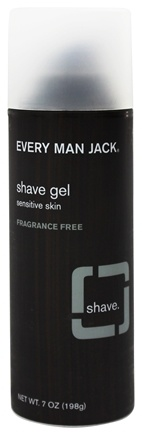 Every Man Jack - Shave Gel Fragrance Free - 7 oz.