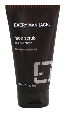DROPPED: Every Man Jack - Face Scrub and Pre-Shave Fragrance Free - 5 oz.