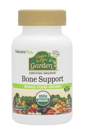 Nature's Plus - Source Of Life Garden Bone Support With AlgaeCal - 120 Vegetarian Capsules