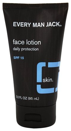 DROPPED: Every Man Jack - Face Lotion Daily Protection SPF 15 Fragrance Free - 3.2 oz.