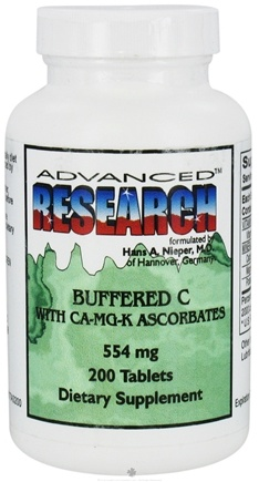 DROPPED: Advanced Research - Buffered C with CA-MG-K Ascorbates 554 mg. - 200 Tablets CLEARANCE PRICED