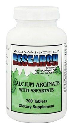 DROPPED: Advanced Research - Calcium Arginate with Aspartate - 200 Tablets