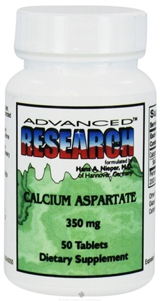 DROPPED: Advanced Research - Calcium Aspartate 350 mg. - 50 Tablets CLEARANCE PRICED