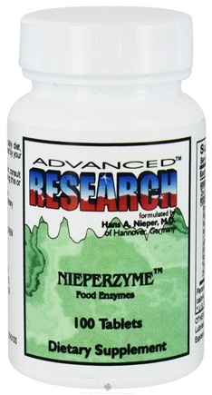 DROPPED: Advanced Research - Nieperzyme Food Enzymes - 100 Tablets CLEARANCE PRICED