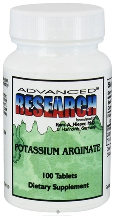 DROPPED: Advanced Research - Potassium Arginate - 100 Tablets CLEARANCE PRICED