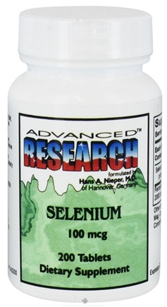 DROPPED: Advanced Research - Selenium 100 mcg. - 200 Tablets CLEARANCE PRICED