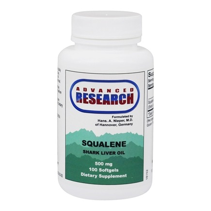 Advanced Research - Squalene Shark Liver Oil 500 mg. - 100 Softgels
