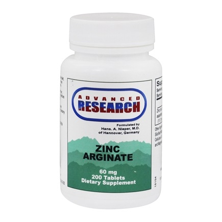 Advanced Research - Zinc Arginate with Aspartate 60 mg. - 200 Tablets