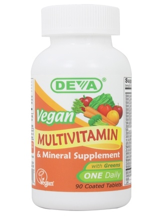 Deva Nutrition - Vegan Multivitamin & Mineral One Daily with Greens - 90 Tablets