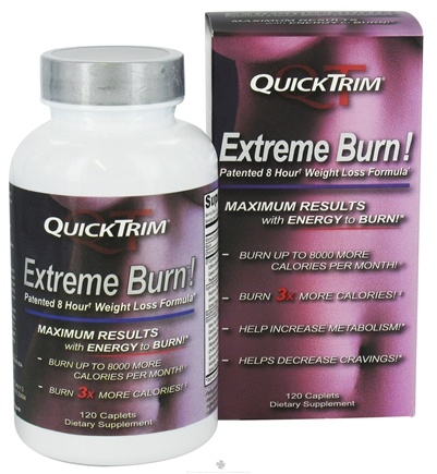 DROPPED: Kardashian - QuickTrim Extreme Burn 8 Hour Weight Loss Formula - 120 Caplets