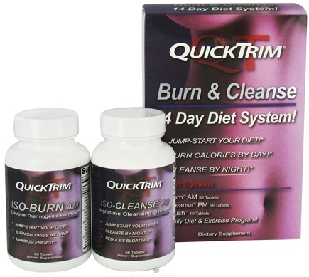 Zoom View - QuickTrim Burn and Cleanse 14 Day Diet System 3 Part Kit