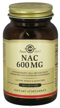 DROPPED: Solgar - NAC (N-Acetyl-L-Cysteine) 600 mg. - 60 Capsules CLEARANCE PRICED