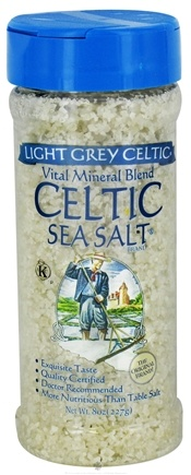 DROPPED: Celtic Sea Salt - Vital Mineral Blend Shaker Jar Light Grey Celtic - 8 oz. CLEARANCE PRICED