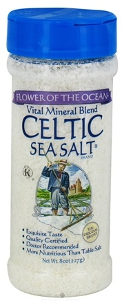 DROPPED: Celtic Sea Salt - Vital Mineral Blend Shaker Jar Flower of the Ocean - 8 oz. CLEARANCE PRICED