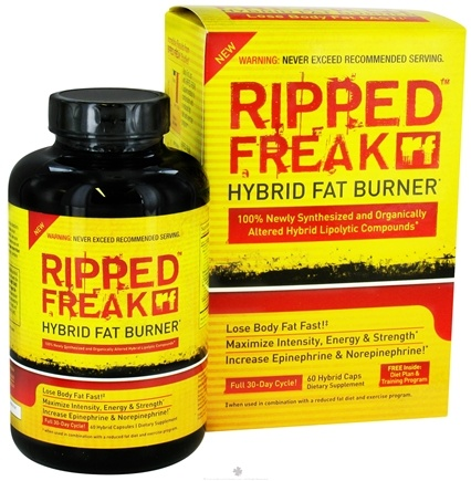 DROPPED: PharmaFreak Technologies - Ripped Freak Hybrid Fat Burner - 60 Capsules CLEARANCE PRICED
