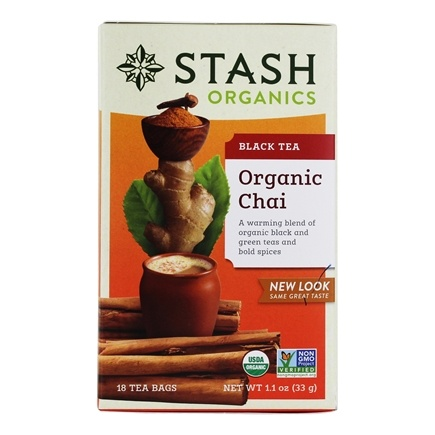 Zoom View - Premium Organic Chai Black & Green Tea