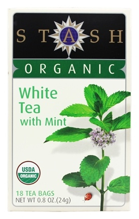Stash Tea - Premium Organic White Tea with Mint - 18 Tea Bags