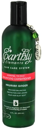 DROPPED: Earthly Elements - Conditioner Balancing Normal to Oily Hawaiian Ginger - 12 oz. CLEARANCE PRICED