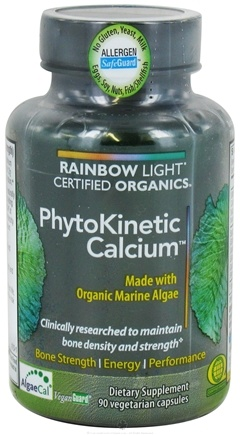 DROPPED: Rainbow Light - Certified Organics PhytoKinetic Calcium - 90 Vegetarian Capsules