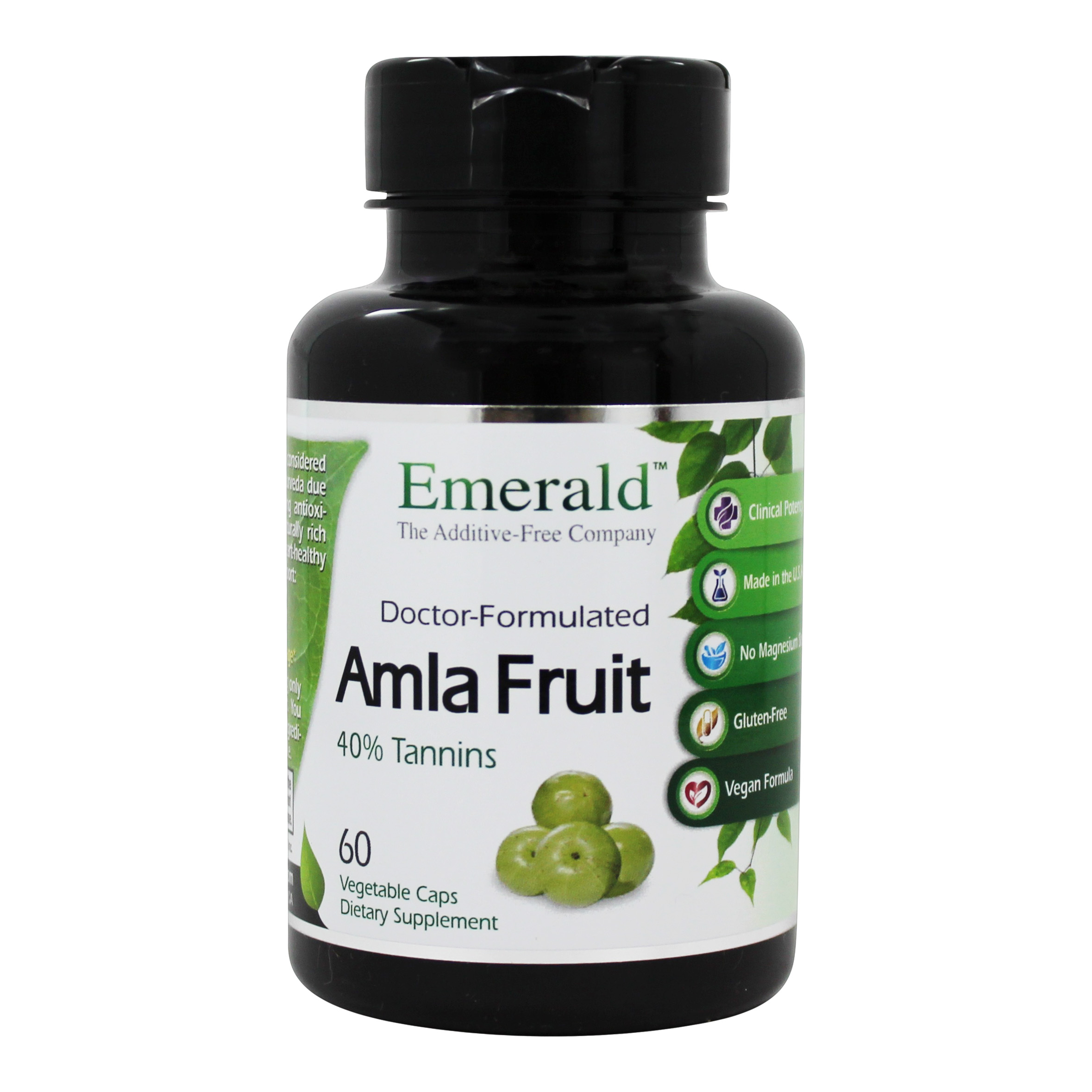 Amla Fruit Natural Source Vitamin C - 60 Vegetarian Capsules Formerly  FruitrientsX by Emerald Labs
