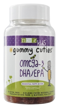 Natural Dynamix - Gummy Cuties Kids Omega-3 DHA/EPA - 60 Gummies