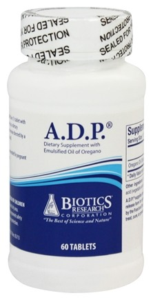 biotics research adp with emulsified oil of oregano 60 tablets