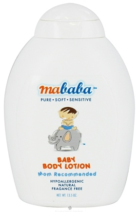 DROPPED: Mababa - Baby Body Lotion Hypoallergenic Fragrance-Free - 13.5 oz. CLEARANCE PRICED