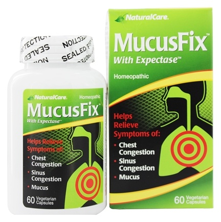 DROPPED: NaturalCare - MucusFix With Expectase - 60 Vegetarian Capsules