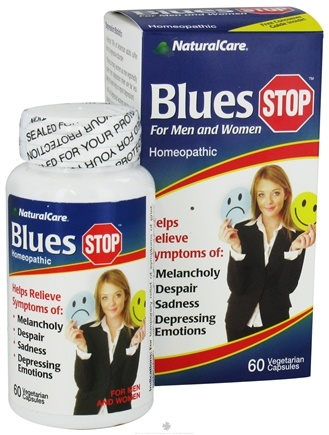 DROPPED: NaturalCare - BluesStop For Men and Women - 60 Vegetarian Capsules CLEARANCE PRICED