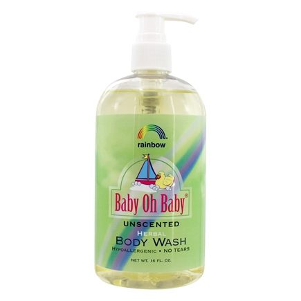 Rainbow Research - Baby Oh Baby Herbal Body Wash Unscented - 16 oz.