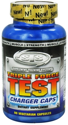 DROPPED: Supplement Training Systems - Triple Force Test Charger Caps - 90 Vegetarian Capsules CLEARANCE PRICED