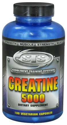 DROPPED: Supplement Training Systems - Creatine 5000 - 180 Vegetarian Capsules CLEARANCE PRICED