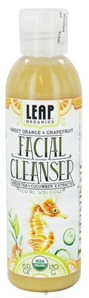 DROPPED: LEAP Organics - Facial Cleanser For All Skin Types Sweet Orange & Grapefruit - 6 oz.