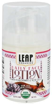 DROPPED: LEAP Organics - Daily Face Lotion For All Skin Types Lavender & Chamomile - 1.7 oz.
