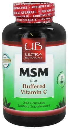DROPPED: Ultra Botanicals - MSM plus Buffered Vitamin C - 240 Capsules CLEARANCE PRICED