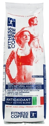 DROPPED: Fitness Coffee - 100% Natural Antioxidant Fully Active Gourmet Coffee Blend - 8.8 oz.