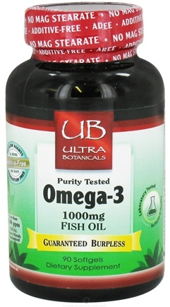 Ultra Botanicals - Omega-3 Fish Oil 1000 mg. - 90 Softgels