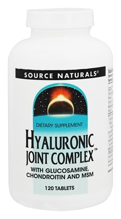 Source Naturals - Hyaluronic Joint Complex With Glucosamine, Chondroitin, and MSM - 120 Tablets